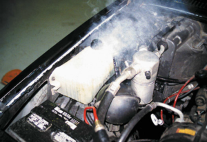 Overheated Engine Coolant Overflow