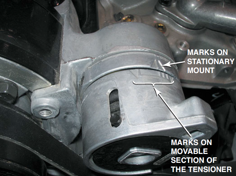 belt tensioner marks drive typical accessory system certification coolant