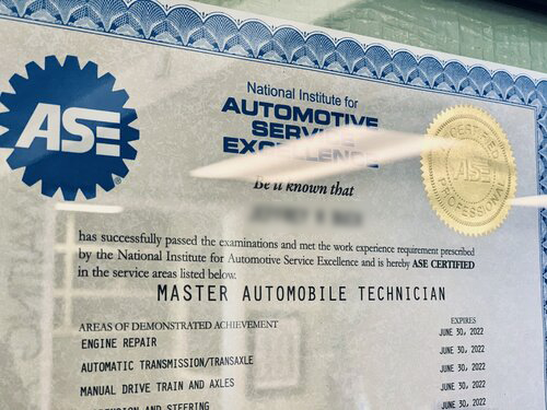 ase step certification technician level training